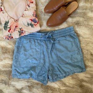 NWOT Calvin Klein Chambray Shorts